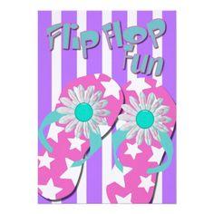 823fefa6a5a94e 21 Best Flip Flop Party Invitations images