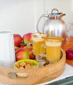 how to make a hot apple cider station
