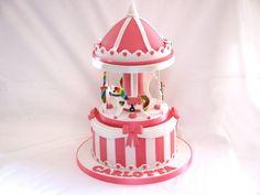 Pink Carousel Cake!