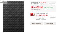 HD Externo Portátil Seagate Expansion 2TB USB 3.0 Preto << R$ 35999 >>