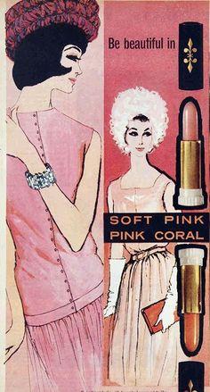 pink vintage cosmetic