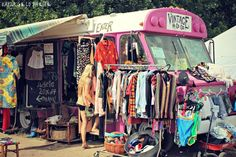 omg i want this traveling pop up shop!!!!!! WTFest OR , electronic music festival, oregon, Vintage A Go Go - crafty vendor