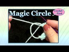MAGIC CIRCLE - Single Crochet - YouTube. Video instructions on how to make magic circle.