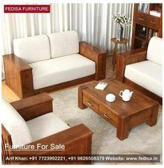 Sofa Bed Design, Living Room Sofa Design, Home Room Design, Living Rooms, Wooden Sofa Set Designs, Living Room Tv Unit Designs, Wood Sofa, Sofa Furniture, Wooden Living Room Furniture