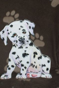 dalmation  on wood by Frances Smith