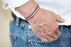 Men's Bracelet Leather Bracelet for Men Custom by PearlTwinkle