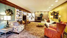 Family Christmas - midcentury - family room - grand rapids - Mindi Freng Designs