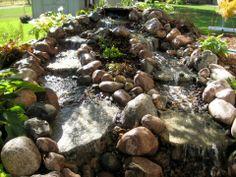 Double Stream Pondless Fieldstone Waterfall  #waterfall #landscaping #backyard #relaxation