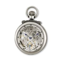 Antique Chrome Finish Brass Skeleton Pocket Watch by Charles Hubert Paris Watches, Best Quality Free Gift Box Satisfaction Guaranteedby VI STAR -   Price: $309.38