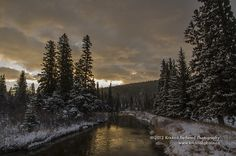 Sunrise on the Crowsnest River   To see more images, visit my website www.kristinabphoto.ca or like my FB page at www.facebook.com/kristinabphoto