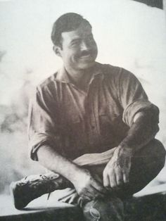 """'His characteristic glasses in hand, Ernest resting at the Percival home waiting for the safari to begin.' - Page 250 """"Hemingway the (Michael Reynolds) Hemingway Cats, Earnest Hemingway, Karen Blixen, Nobel Prize In Literature, Story Writer, Writers And Poets, Artist Life, Latest Generation, Short Stories"""