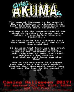 Chibi Akumas Episode 2: Confrontation - Official Teaser Poster http://www.chibiakumas.com/ep2/ #chibiakumas #chibi #akuma #retrogames #retrogaming #gothic #amstradcpc #8bit #チビ #ちび #悪魔