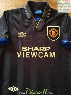 Official Umbro Manchester United away football shirt from the 1993/1994 season.