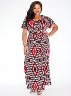 Elissa Maxi Dress in Ruby Deco