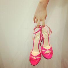 pink heels (so cute)