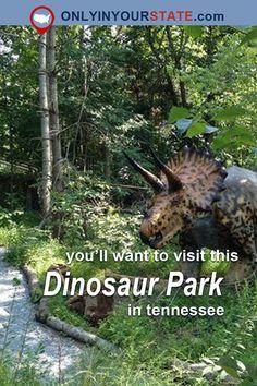 Travel   Tennessee   Unique Attractions   Dinosaur Park   Unique Park   Tennessee Bucket List