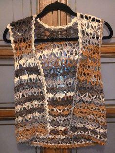 Knit: Mesh Women's Vest Models Knit Baby Vest Samples # Crochet …, … - Stricken Baby Sachen Crochet Bolero Pattern, Cardigan Au Crochet, Crochet Jacket, Crochet Cardigan, Crochet Shawl, Freeform Crochet, Knit Crochet, Crochet Summer, Pull Crochet