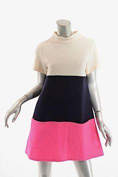 Lisa Perry short dress Black White & Pink on Tradesy
