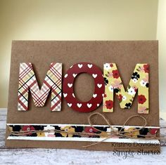 MOM - Mother's Day Card - Scrapbook.com