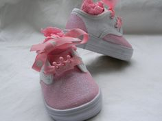 SALE Pink Glitter Toddler Shoes by sweetfeetbybrit on Etsy, $20.00