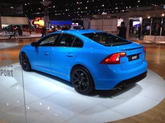 the new Volvo S60 Polestar upgrades; used in Volvo racing for years now available to the public, on display this weekend at the LA Auto Show