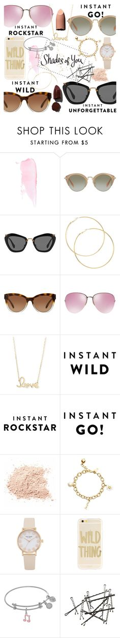 """Shades of You: Sunglass Hut Contest Entry"" by iiannanasii ❤ liked on Polyvore featuring Miu Miu, Michael Kors, Sydney Evan, Kate Spade, Sonix and Lipstick Queen"