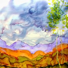 Wendy Videlock   ALCOHOL INK