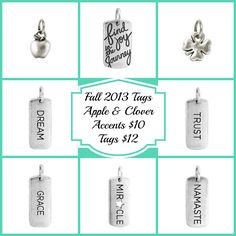 New Origami Owl Tags Fall October 2013 new products