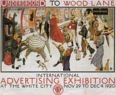 Underground to Wood Lane by Frederick Charles Herrick, 1920