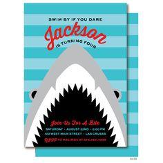 Shark Birthday Invitation Shark Party by DelightPaperie on Etsy