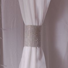 This silver rhinestone mesh velcro band is the hottest decor trend right now. Because of the bling factor and the flexibility of this material, it can be used for a multitude of reasons. Wrap it ar...