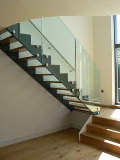 deco verre rampe d'escalier moderne