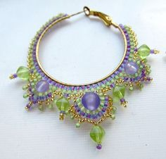 earrings pattern by Natalia Kroshik - think this would be pretty as a necklace pattern.