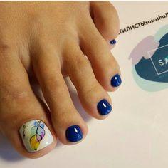 #nail #nails #uñas #uña #uñascrilicas #pies #pieslindos #decoración Creative Nail Designs, Colorful Nail Designs, Beautiful Nail Designs, Pretty Toe Nails, Gorgeous Nails, Love Nails, Pedicure Designs, Toe Nail Designs, Nail Polish Style