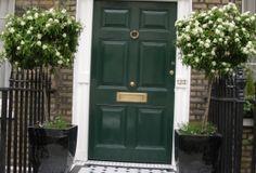 Planters by front door