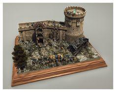 Medieval Siege Diorama by Nick Gizelis   Still Life   3D   CGSociety