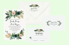 rifle paper co wedding invites - Google Search