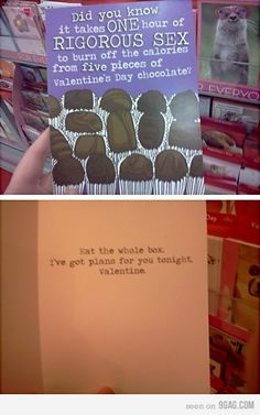I've always been anti-Valentine's Day, whether I had a boyfriend or not. But I have to admit, I love this card.