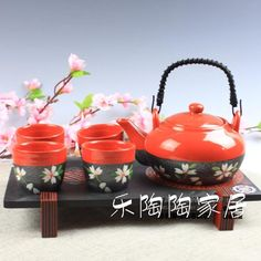 Japanese Tea Sets for kitchen, Tableware, Ideal Marriage Gifts Best Selling 002(China (Mainland))