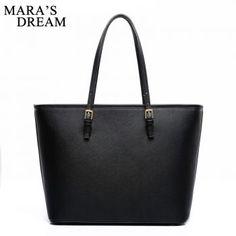 Mara's Dream Fashion Big Bags PU Leather Women's Handbag Large Capacity Women Tote Bag Black Shoulder Bags Hand bag - 501Stores