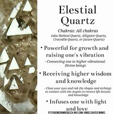 About some different kinds of quartz crystal formations like twin quartz crystals and elestial quartz crystals. Crystals Minerals, Rocks And Minerals, Crystals And Gemstones, Stones And Crystals, Crystal Uses, Crystal Healing Stones, Quartz Crystal, Crystal Guide, Chakra Crystals