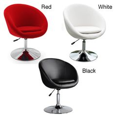 @Overstock - For a totally modern look to your decor, add these colorful swivel barrel chairs for extra seating and fun. It is available in red, white, or black and swivels a full 360-degree turn. The chair features a hydraulic lift for smooth adjustments.http://www.overstock.com/Home-Garden/Barrel-Adjustable-Swivel-Leisure-Chair/4470728/product.html?CID=214117 $188.99
