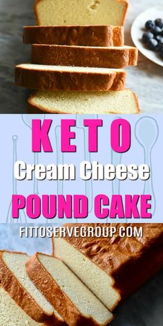 Keto Cream Cheese Pound Cake- was birthed out of my need to replace our family's traditional favorite. I wanted a keto pound cake recipe that could pass for the real thing and that it was also easy to make. Thankfully, thats what this recipe accomplished. Easy Keto Bread Recipe, Lowest Carb Bread Recipe, Recipe Breadmaker, Recipe Tasty, 90 Second Keto Bread, Best Keto Bread, Keto Cake, Keto Cookies, Food Cakes