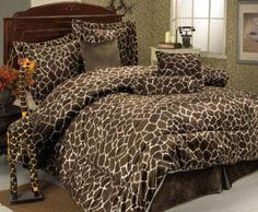 Amazon.com: 7Pcs Queen Giraffe Animal Kingdom Bedding Comforter Set: Home & Kitchen