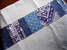 I'd like these for myself!    Patchwork Kitchen Towels « Sew,Mama,Sew! Blog