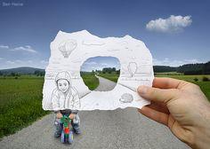 Artista belga usa desenhos a lápis para alterar fotos - Fotos - UOL Entretenimento