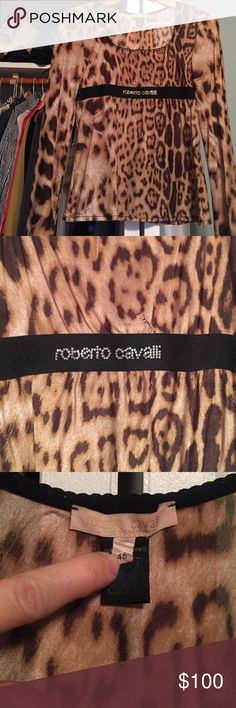 Roberto Cavalli blouse Like new. No issues with the cloth. Just moving out and need to clean my closet! Please check my closet. Reasonable price. No low balls please! Roberto Cavalli Tops Blouses