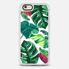 PALM WHITE - protective iPhone 6 phone case in Clear and Clear by Ellie Cryer #phonecase #palmtree #gardenart | @casetify