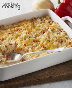Cheesy Hash Brown Casserole #recipe