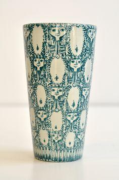 Bjorn Wiinblad; Glazed Ceramic Vase, 1981.